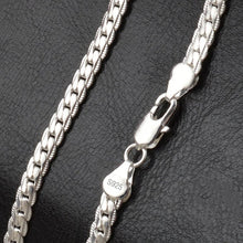 Load image into Gallery viewer, DOTEFFIL 925 Sterling Silver 6mm Full Sideways Necklace 18/20/24 Inch Chain For Woman Men Fashion Wedding Engagement Jewelry