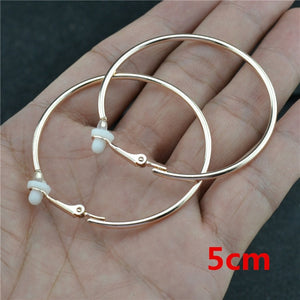 Clip on earrrings women Non pierced With cushion pad Fashion Jewelry Accessories Small Big Circle Classic trend Ladies Earrings
