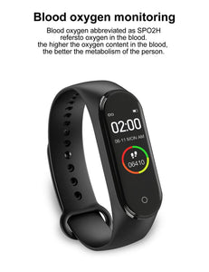 New M4 Smart Band Fitness Tracker Smart Watch Sport Bracelet Heart Rate Blood Pressure Smartband Monitor Health Wristband