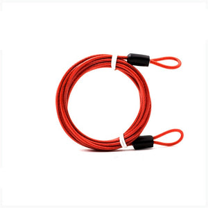 2m Cycle Security Loop Cable Lock Bicycle Scooter Guard U-Lock Bike Motorcycle Protector Anti Theft Steel Wire Rope Helmet Lock