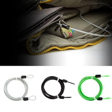 Load image into Gallery viewer, 2m Cycle Security Loop Cable Lock Bicycle Scooter Guard U-Lock Bike Motorcycle Protector Anti Theft Steel Wire Rope Helmet Lock