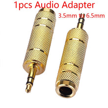 Load image into Gallery viewer, 6.35mm Male Plug To 3.5mm Female Connector Earphone Amplifier Audio Adapter Microphone AUX 6.3 3.5 Mm Converter
