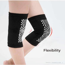 Load image into Gallery viewer, 2pcs Self Heating Support Knee Pads Knee Brace Warm for Arthritis Joint Pain Relief and Injury Recovery Belt Knee Massager Foot