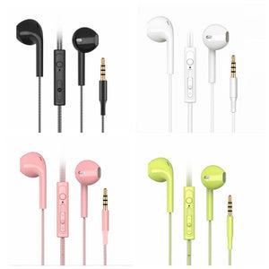 Candy Colors Wired Headphones Bass Stereo Earbuds Sports Waterproof Earphone Music Headsets for Samsung iphone for Xiaomi Huawei