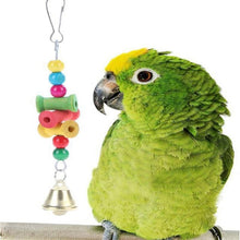 Load image into Gallery viewer, Birds Toys Funny Cockatiel Parakeet Conure Birds Bites Toy Parrot Swing Cages Chew Toys Acrylic Suspension Bridge Climbing Rope