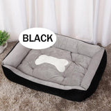Black Bolstered Bed For Dogs