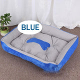 Blue Bolstered Bed For Dogs