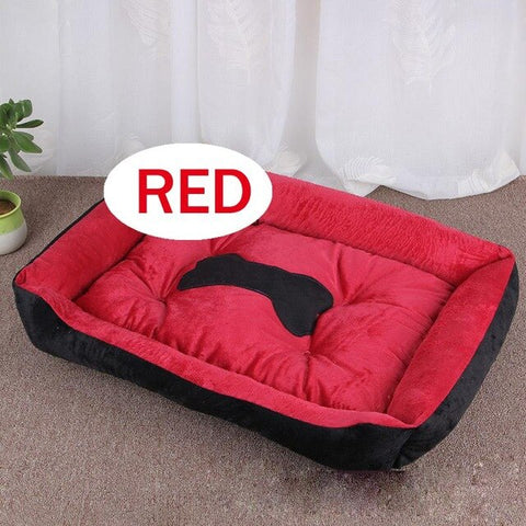 Red Bolstered Bed For Dogs