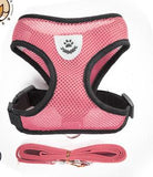 Pink Mesh Harness For Dog