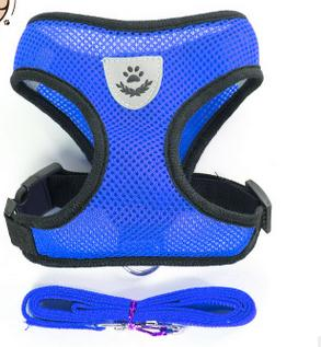 Blue Mesh Harness For Dog