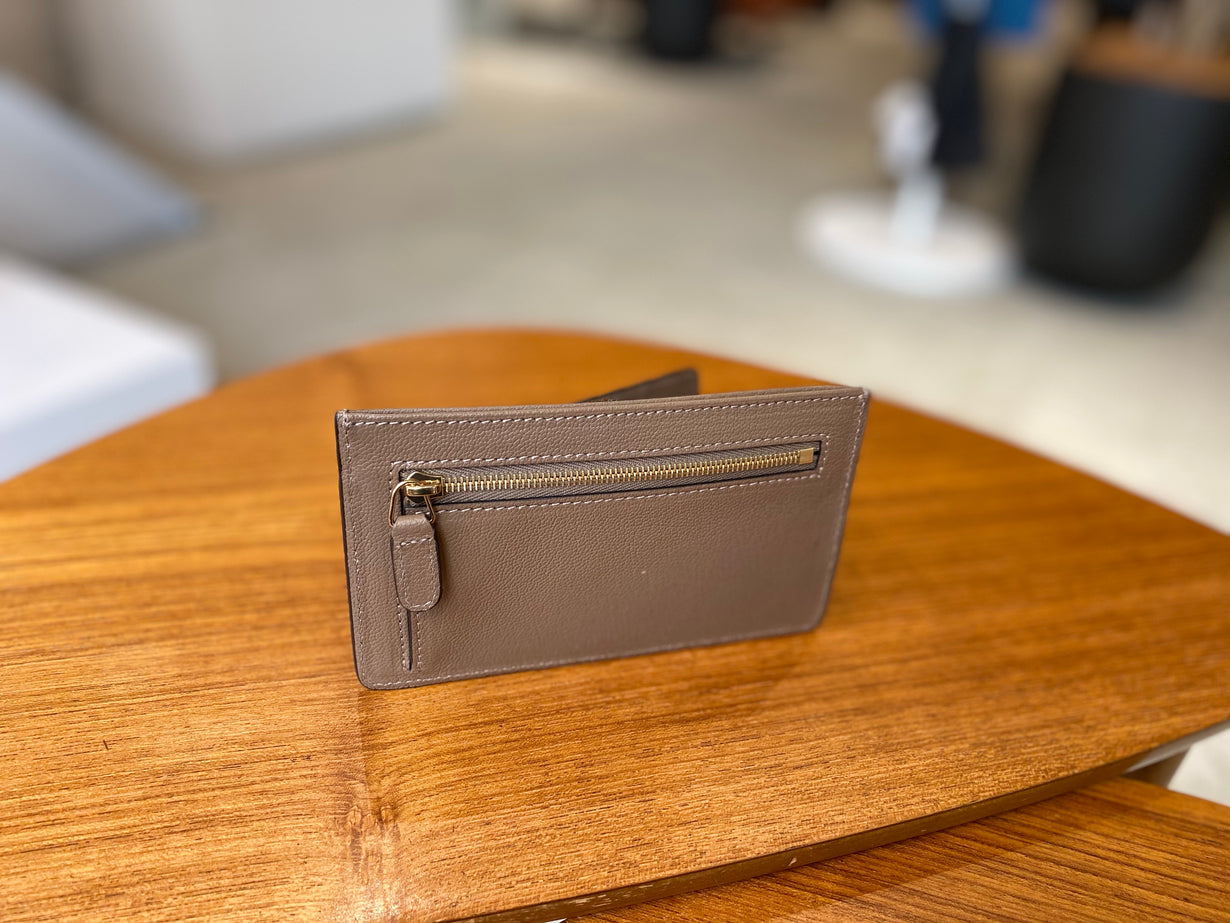 Goat Leather Card Wallet FATTORIA del CUOIO ( Small Size )