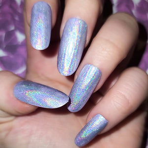 Lavender Holographic Press On Nail Set
