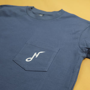 Hoy Downtown Pocket T-shirt - Petrol / Foam
