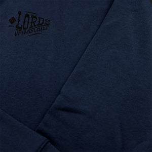 Hoy Lords of Mischief Sponge Fleece Sweater - Navy
