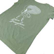 Load image into Gallery viewer, Women's Wave Wranglers Organic T-shirt - Soft Green
