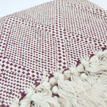 Load image into Gallery viewer, Heavy Cotton Throw - Cream / Bordeaux