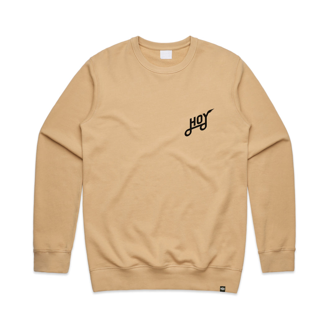 Hoy Classics Crew Neck Sweater - Birch