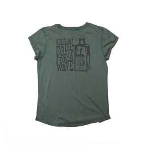 Women's Sold My Soul Organic T-shirt - Dusty Green