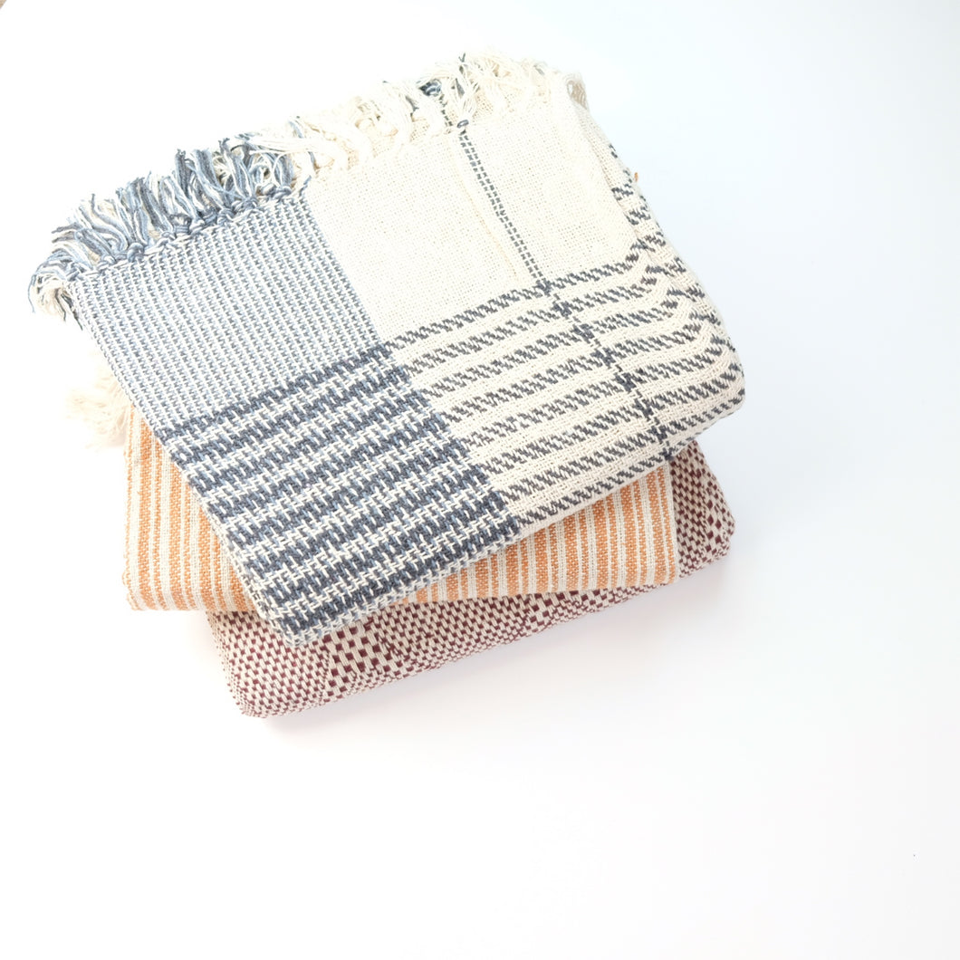 Heavy Cotton Throw - Set of Three