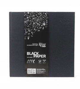 Sketchbooks Black Paper, 96 Pages, High Quality, 80 grams/m2, Drawing, painting