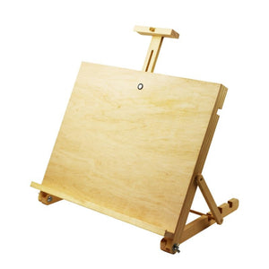 Easel Sketch Board Tabletop A3, with mast 45x35cm Veneer ROSA Studio