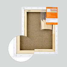 Load image into Gallery viewer, 100% Natural Stretched Linen Canvas, Best Quality, 17.6 oz (500gsm)