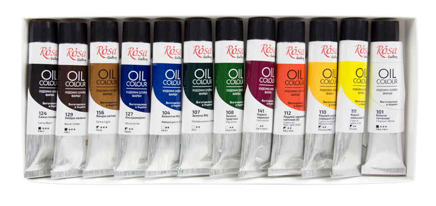 Professional ROSA Gallery Oil Paint Set, Assorted Colors for Artists
