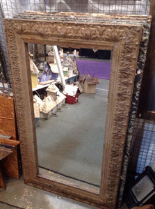 Antique embossed tin mirrors