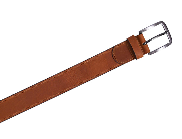 Brown Leather Belt Mens - GOOSEBERY