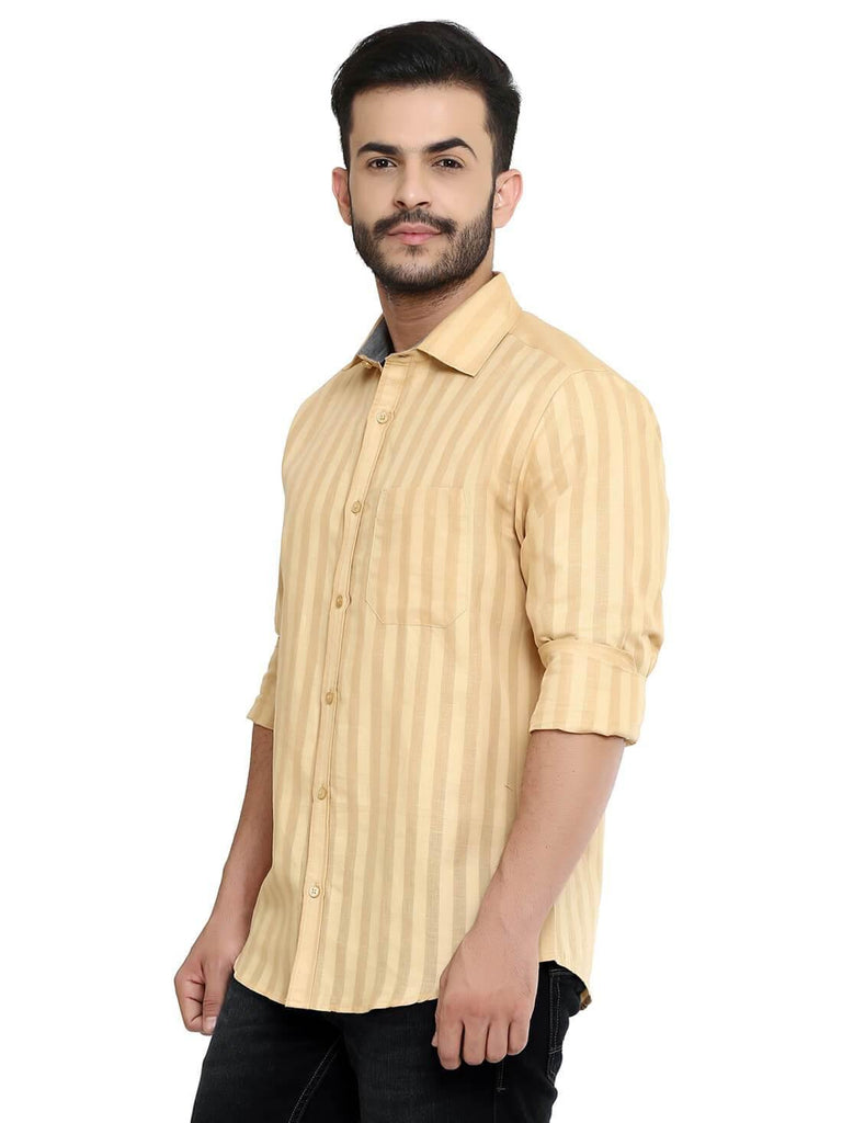 Light Orange Shirt for Men (GROSULA LN 105) - GOOSEBERY