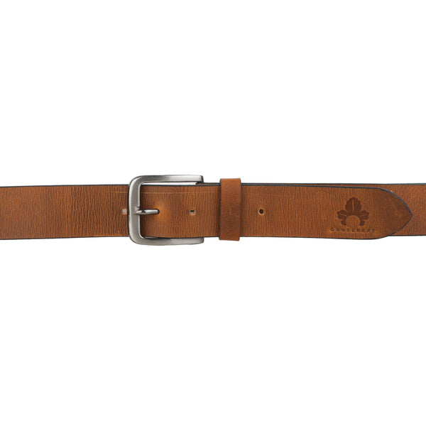 Brown Leather Belt for Men - GOOSEBERY
