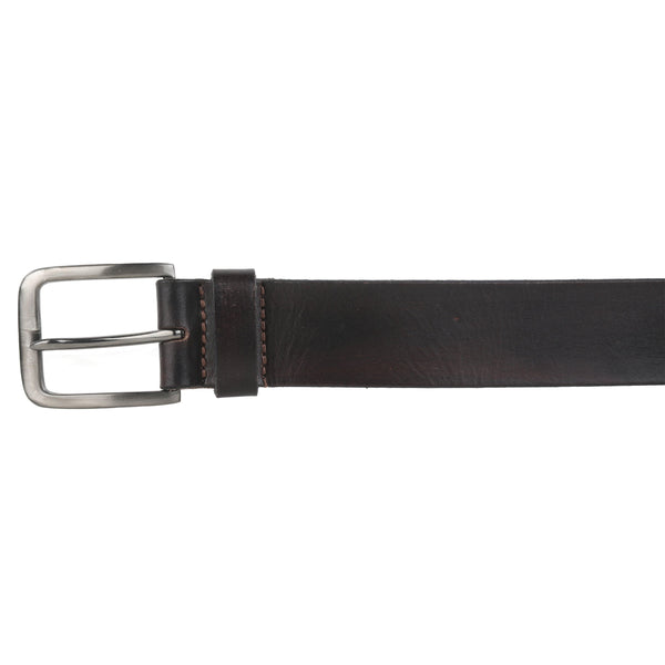 Black Leather Belt - GOOSEBERY