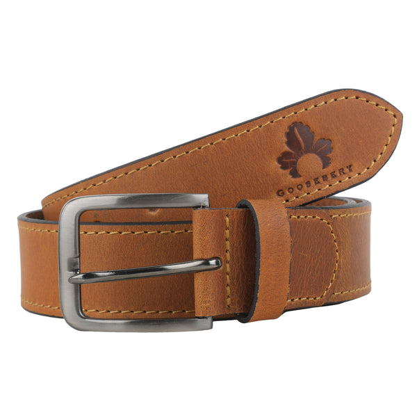 Pure Leather Belt for Men - GOOSEBERY