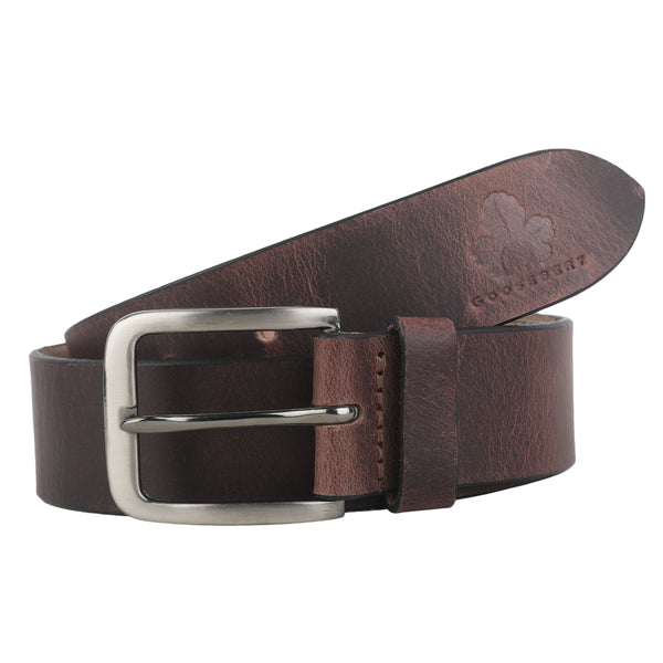 Brown Leather Belt for Mens - GOOSEBERY