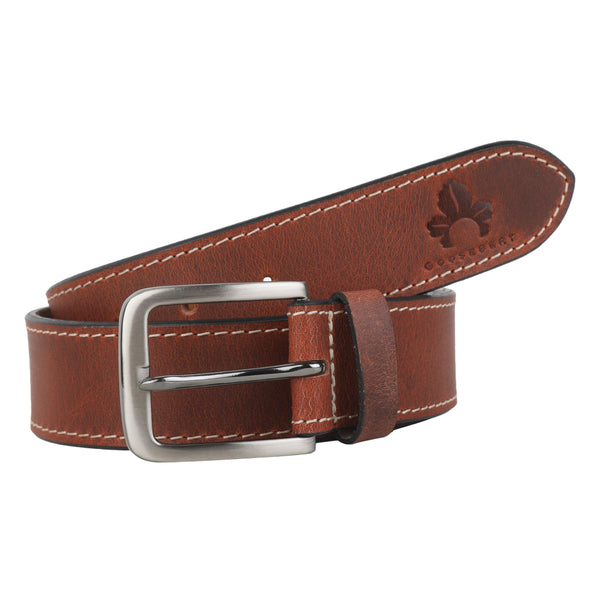 Men Casual Brown Belt - GOOSEBERY