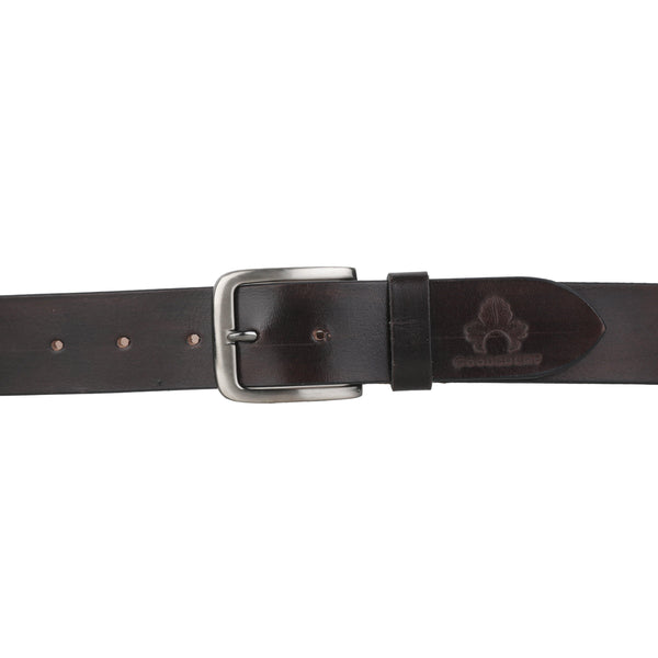 Casual Brown Leather Belt for Men - GOOSEBERY