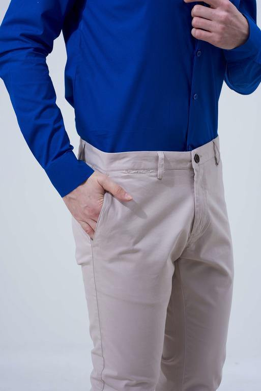 Sand Cream Trousers for Men