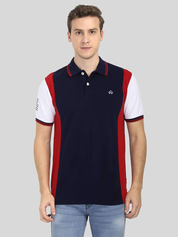 Blue Polo T-shirt for Men - GOOSEBERY