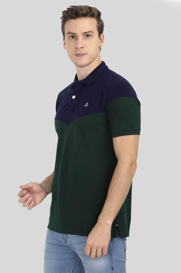Green Polo T-Shirt for Men - GOOSEBERY