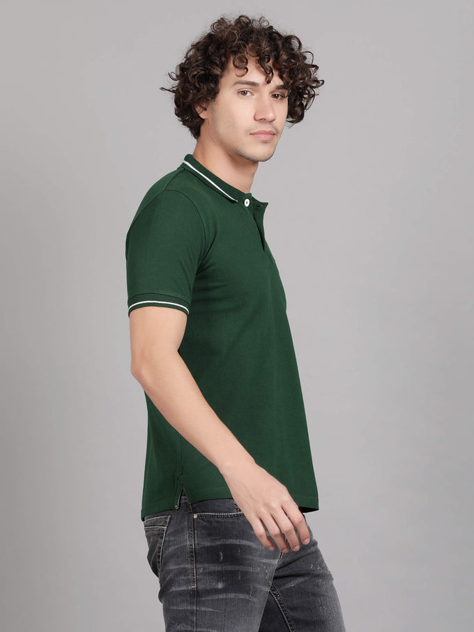 Green Polo T-Shirt Men - GOOSEBERY