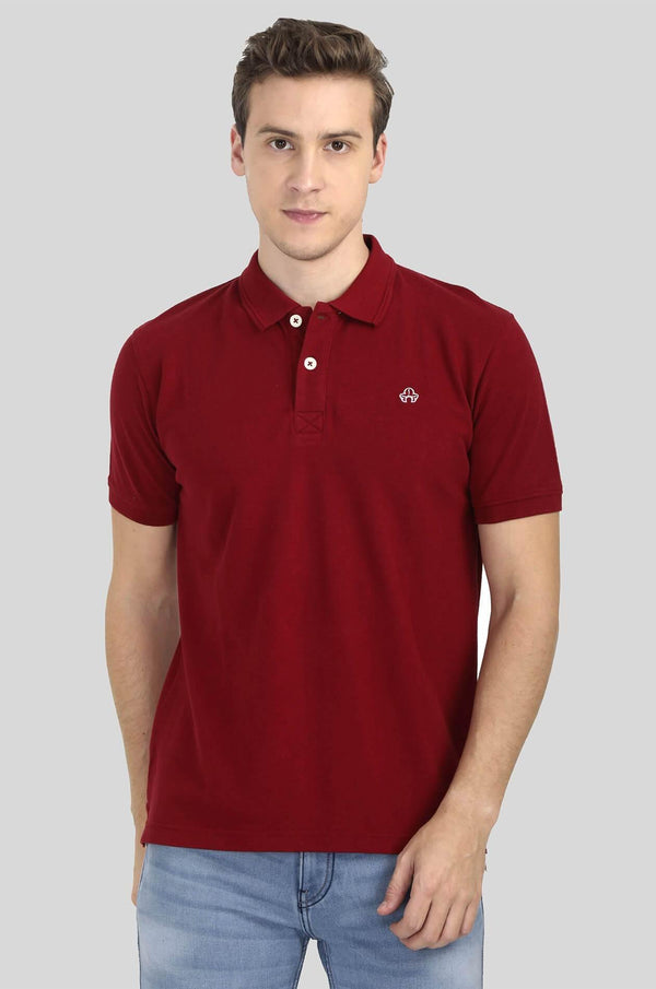 Red Polo T-Shirt for Men - GOOSEBERY