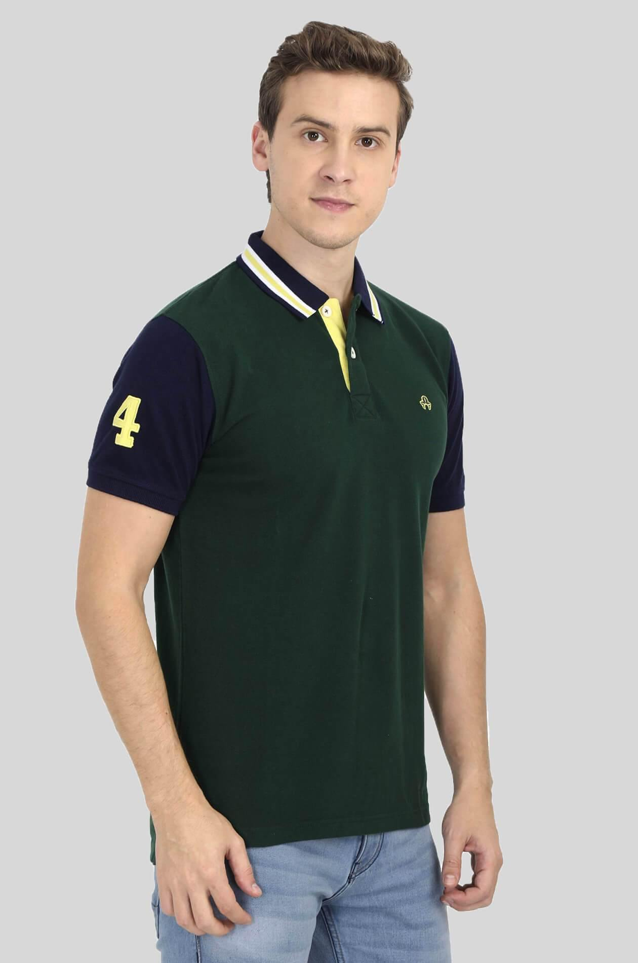 Green Polo T-Shirt - GOOSEBERY
