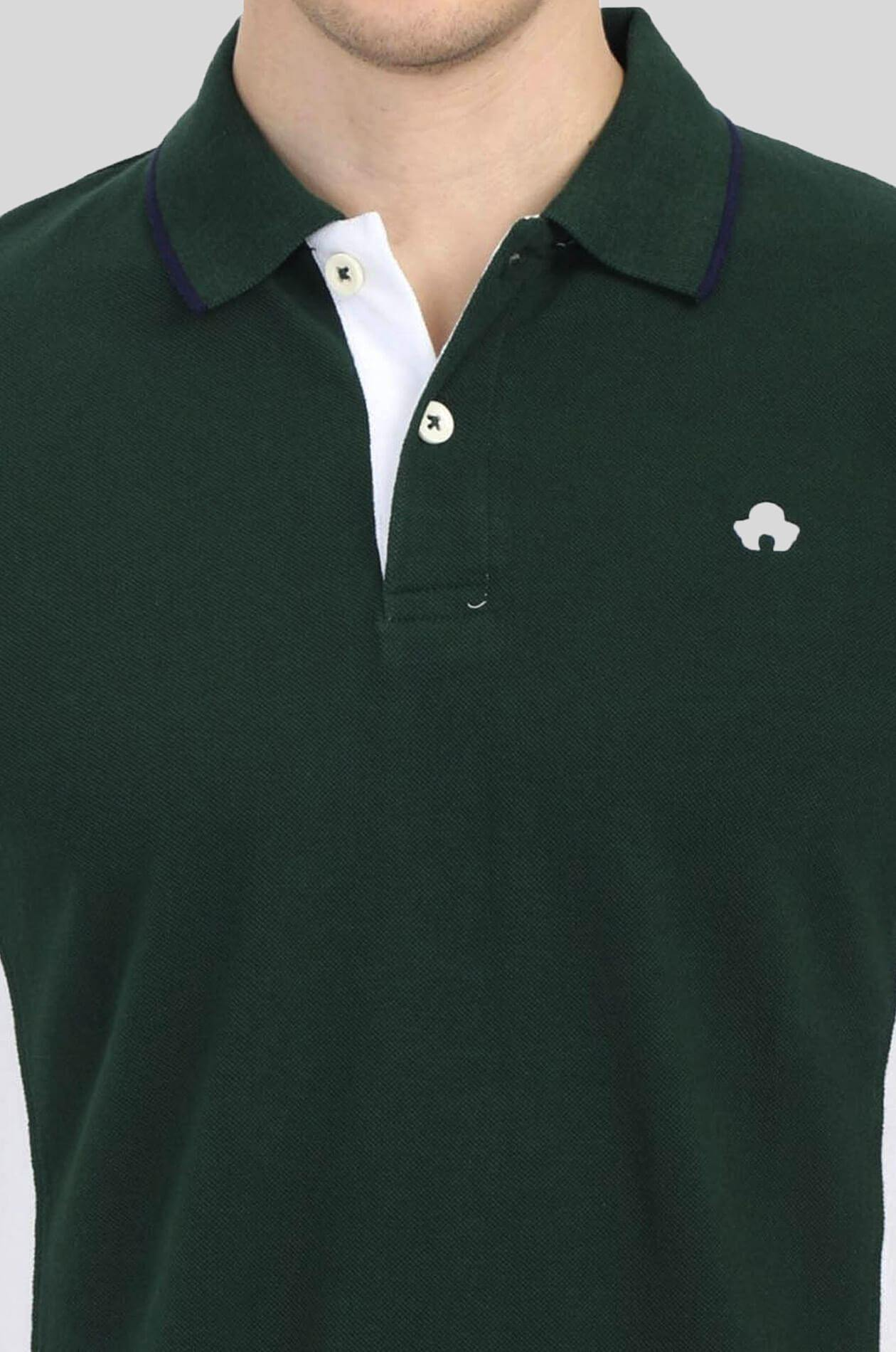 Green Mens Polo T-Shirt - GOOSEBERY