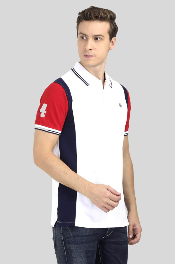White Polo T-Shirt for Men - GOOSEBERY