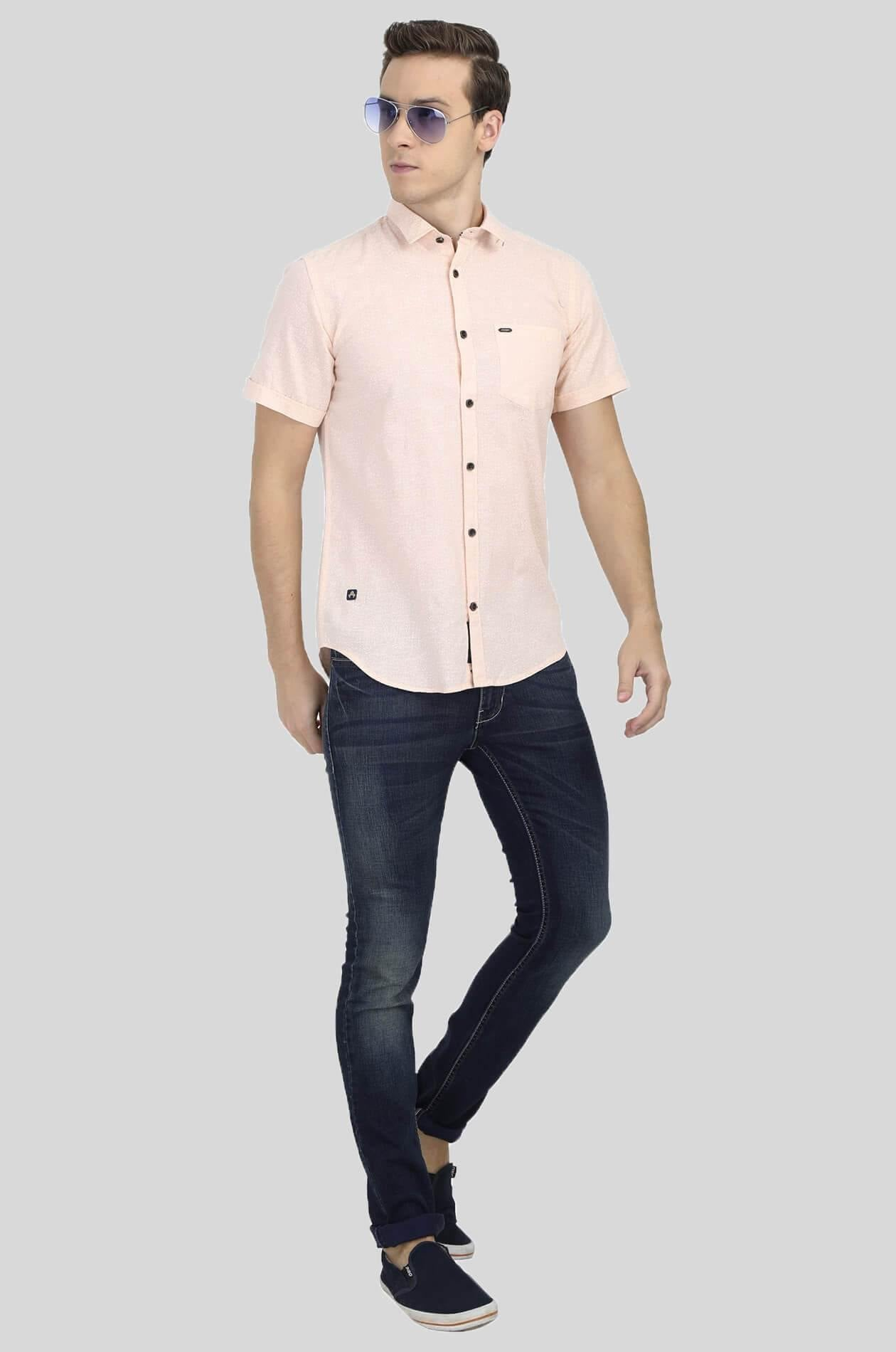 Light Pink Shirt for Men (DNMFD 2204) - GOOSEBERY
