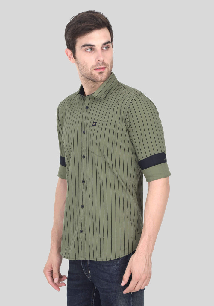 Green Shirt for Men (EDGER 1013) - GOOSEBERY