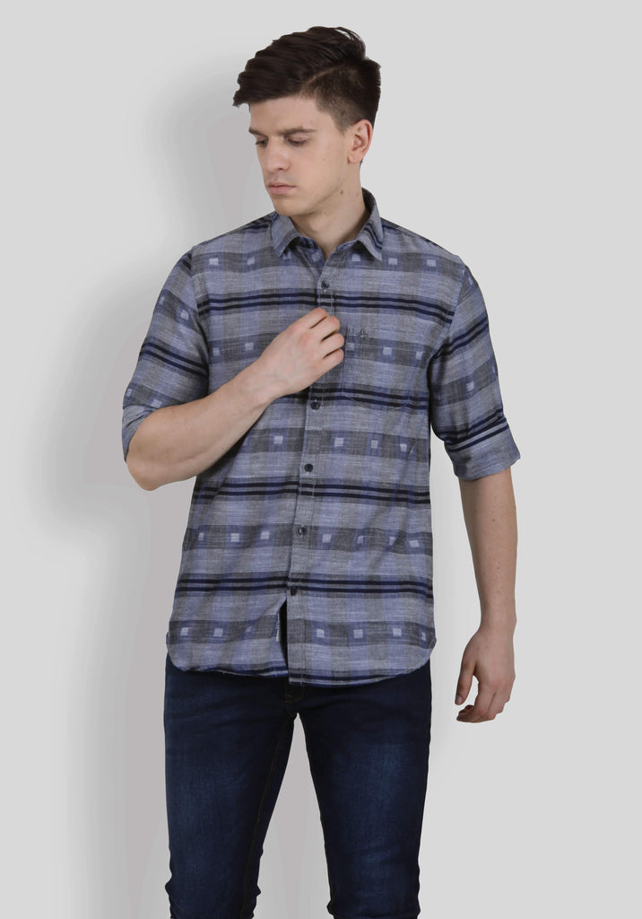 Grey Shirt for Men (EDGER 5005) - GOOSEBERY