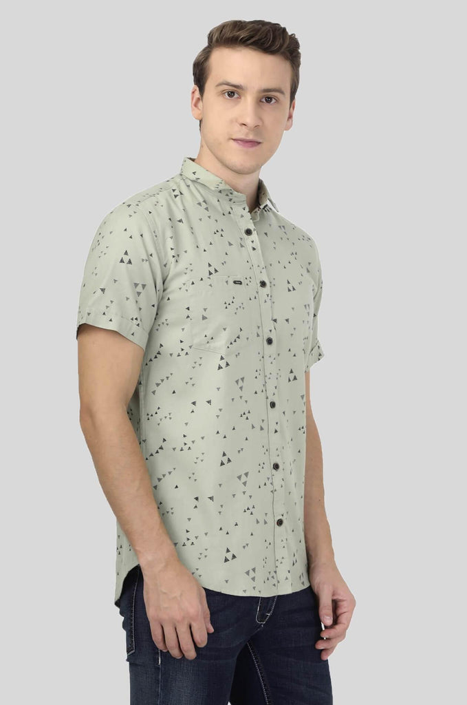 Light Green Shirt for Men (ESPINOSA 2218) - GOOSEBERY