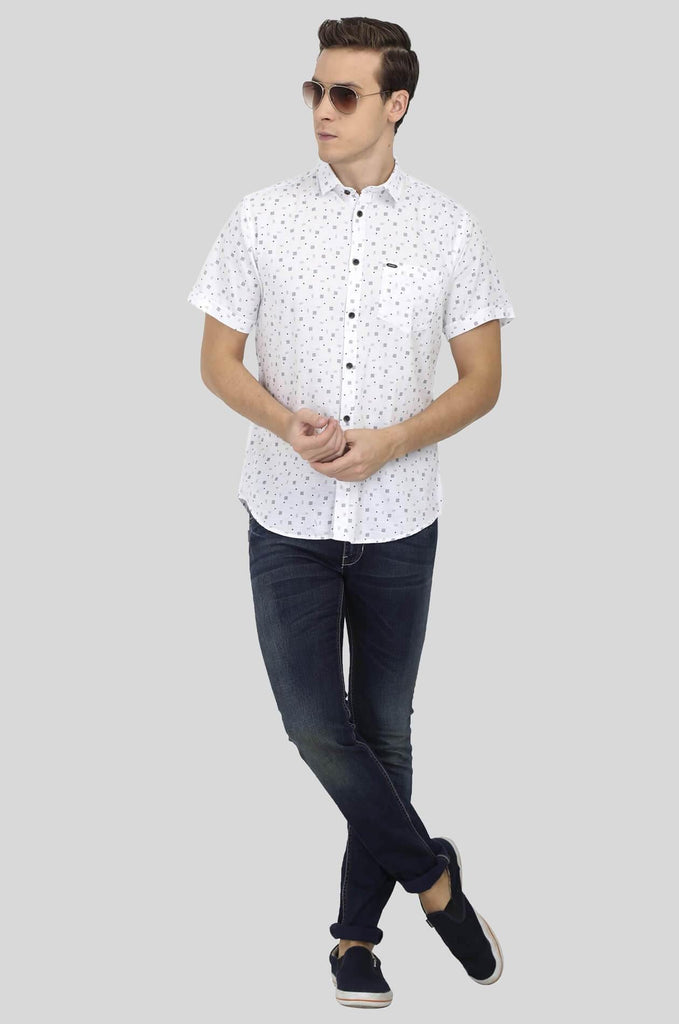 White Shirt for Men (ESPINOSA 2217) - GOOSEBERY
