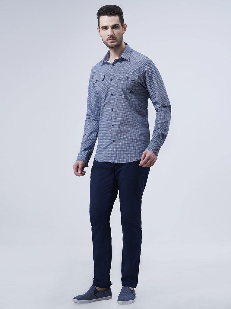 Hexagon Printed Shirt for Men